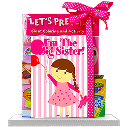 I'm A Big Sister Sibling Coloring Book Gift Set