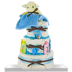Lil Lamb's Sweet Diaper Cake for Boys