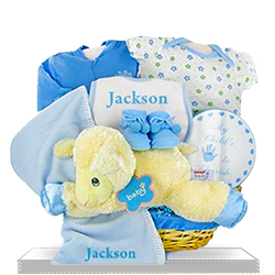 Love my Lambkins Blue Plush Lamb Gift for Boys