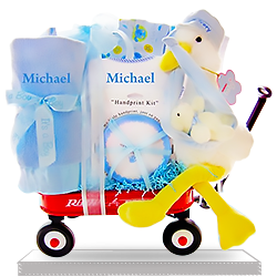 Happy Stork's Special Delivery Boy Personalized Gift Basket