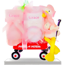 Get Happy Stork's for Girl Personalized Radio Flyer Wagon
