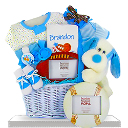The Littlest Athlete for Baby Boys First Puppy Gift Basket