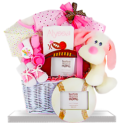 The Littlest Athlete Gift Basket GIrl Personalized
