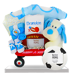 The Blue MVP Sports Frame Radio Flyer Wagon for Boys