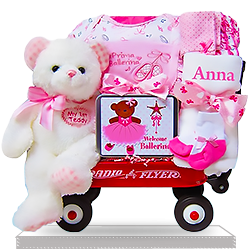 Personalized Ballerina Dancer Baby Wagon