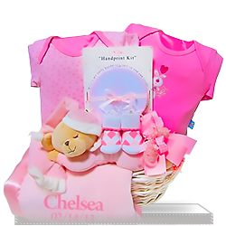 Order Personalized Bedtime Plush Bear for Girls Gift Basket