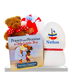 Cuddly Teddy Bear for Baby Boy's Book of Prayers