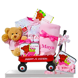 The All Radio Flyer Wagon Gift Basket for Girls