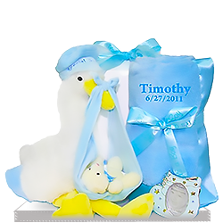 The Stork that Stayed Baby Boy's Gift Blanket