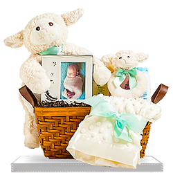 Order Nap Time with Plush Lamb Baby Gift Basket