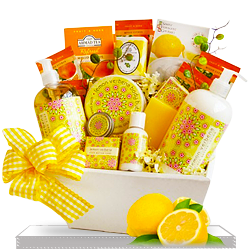 Find the Stunning Lemon Spa Gift Basket