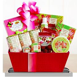 Flower Spa Gift Basket of Joy for Mom