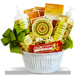 Organic Oatmeal Spa Gift Basket for Moms