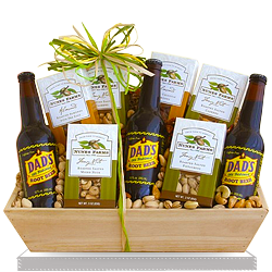 Gourmet Nuts & Root Beer Soda for Dad Gift