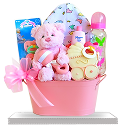 The Pretty Pink Pail Cuddly Welcome for Baby Girl