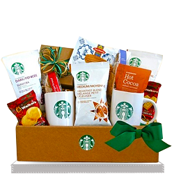Starbucks Coffee and Cocoa Gourmet Gift Basket for Family