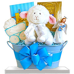 Naming Angels Boy's Christening Gift Basket