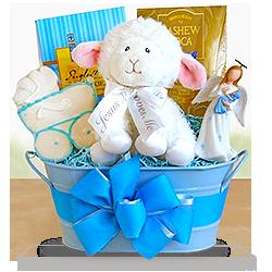Naming Angels Boy's Christening Gift Basket