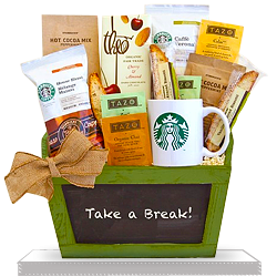 Send Best Starbucks Break Gift Basket