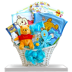 Winnie The Pooh's Gift Basket for Boys