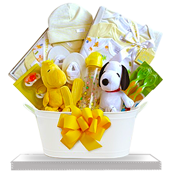 Snoopy Plush Sunshine Gift Basket