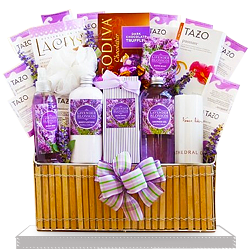 High quality Spa Lavender Gift Basket