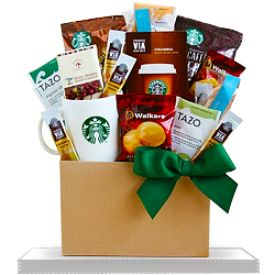 Creative Starbucks and Gourmet Treats Gift Basket