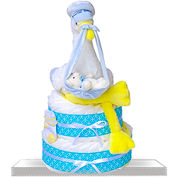 Diaper Cake for Baby Boys Gift Basket