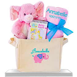 Baby Girl Gift Tote for delivery to US